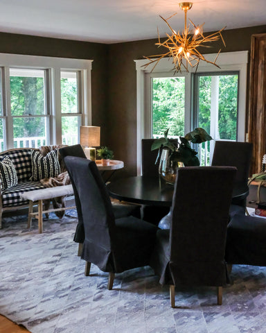 interior design of a Stowe Kitchen Bath & Linens dining room