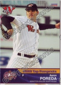 2008 Carolina League Top Prospects Team Set