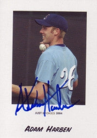 Adam Harben 2004 Just Minors Rookies #33 (Autograph)
