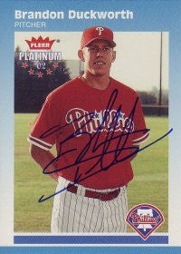 Brandon Duckworth 2002 Fleer Platinum #165 (Autograph)
