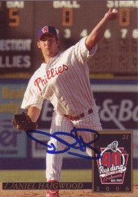 Daniel (Dan) Haigwood 2006 MultiAd Reading Phillies #8 (Autograph)