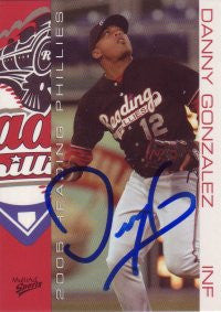 Danny Gonzalez 2005 MultiAd Reading Phillies #10 (Autograph)
