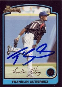 Franklin Gutierrez 2003 Bowman Draft Picks Gold #135 (Autograph)