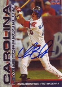 Ian Bladergroen 2006 Choice Carolina League Top Prospects #4 (Autograph)