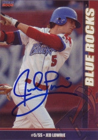 Jed Lowrie 2006 Choice Wilmington Blue Rocks #17 (Autograph)