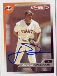 Jerome Williams 2005 Topps Total #421 (Autograph)