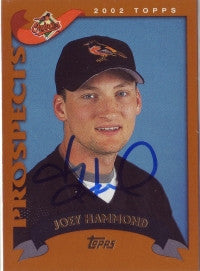 Joey Hammond 2002 Topps Traded (Autograph)