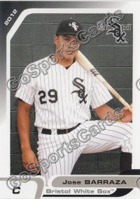 2012 Bristol White Sox Jose Barraza