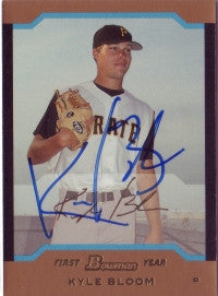 Kyle Bloom 2004 Bowman Draft Picks Gold #112 (Autograph)