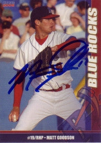 Matt Goodson 2006 Choice Wilmington Blue Rocks #10 (Autograph)