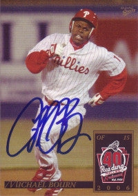 Michael Bourn 2006 Multiad Reading Phillies #3 (Autograph)