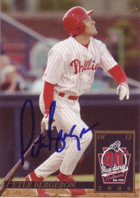 Peter Bergeron 2006 MultiAd Reading Phillies #2 (Autograph)