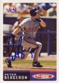 Peter Bergeron 2002 Topps Total #861 (Autograph)