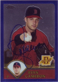 Ryan Cameron 2003 Topps Chrome Traded #252 (Autograph)