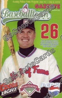 Ryne Sandberg 2006 Reading Phillies HOF Retirement Gazette Program (SGA)