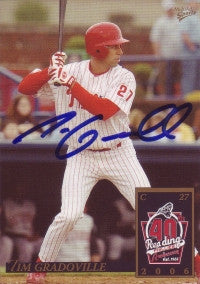 Tim Gradoville 2006 MultiAd Reading Phillies #7 (Autograph)