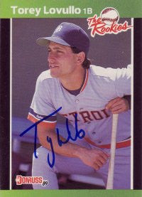 Torey Lovullo 1989 Donruss The Rookies #17 (Autograph)