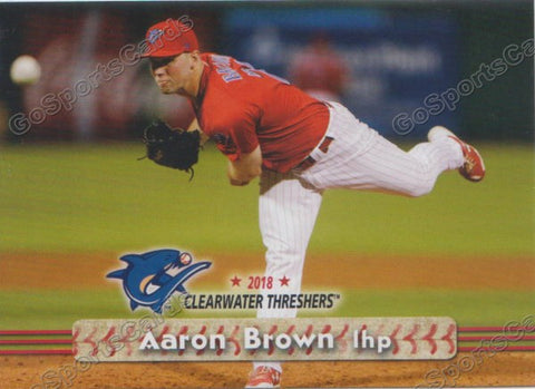 2018 Clearwater Threshers Aaron Brown