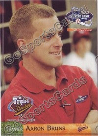 2003 Pacific Coast League All-Star Multi-Ad Aaron Bruns TR