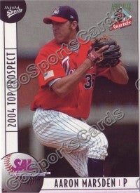 2004 South Atlantic League SAL Top Prospects Aaron Marsden