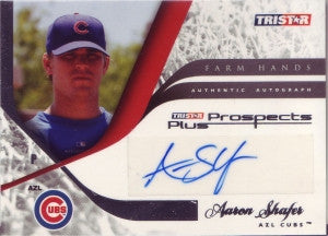 Aaron Shafer 2008 TriStar Prospects Plus Farm Hands (Certified Autograph)