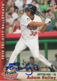 Adam Bailey 2010 Tri City Valleycats (Autograph)
