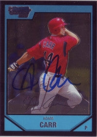 Adam Carr 2007 Bowman Chrome (Autograph)
