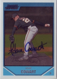 Adam Cowart 2007 Bowman Chrome #188 (Autograph)