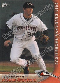 2011 Delmarva Shorebirds Adam Gaylord