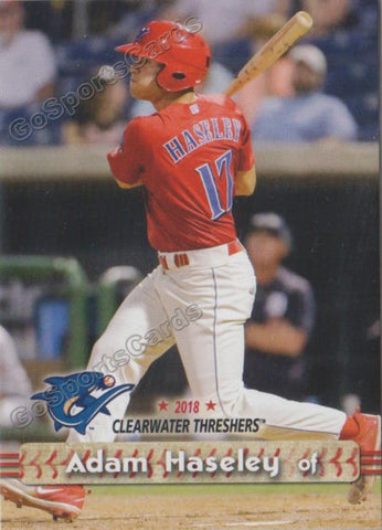 2018 Clearwater Threshers Adam Haseley