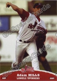 2007 Lowell Spinners Adam Mills