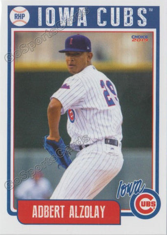 2019 Iowa Cubs Adbert Alzolay