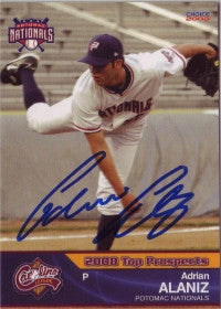 Adrian Alaniz 2008 Carolina League Top Prospects (Autograph)