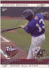 2005 Pacific Coast League All-Star Game Multi-Ad Adrian Brown