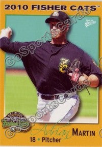 2010 New Hampshire Fisher Cats Adrian Martin