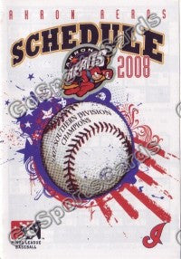 2008 Akron Aeros Pocket Schedule