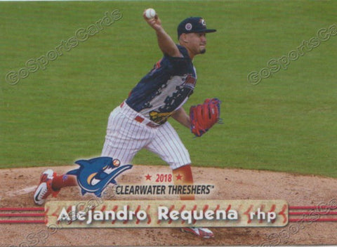 2018 Clearwater Threshers Alejandro Requena