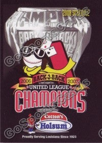 2008 Alexandria Aces Pocket Schedule