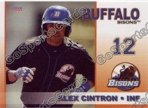 2010 Buffalo Bisons Alex Cintron