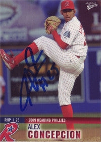 Alexander Concepcion 2009 MultiAd Sports Reading Phillies #8 (Autograph)