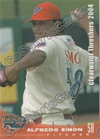 2004 Clearwater Threshers Alfredo Simon