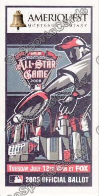 2005 MLB All Star Game Ballot Detroit Tigers SGA