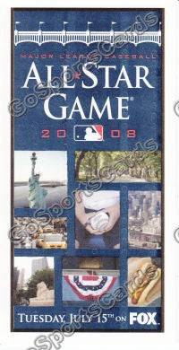 2008 MLB All Star Game Ballot New York Yankees SGA