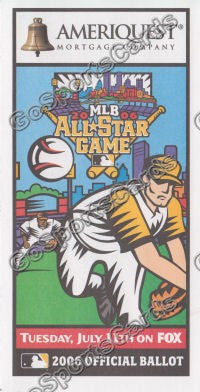 2006 MLB All Star Game Ballot Pittsburgh Pirates SGA