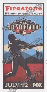 2011 MLB All Star Game Ballot Arizona Diamondbacks SGA