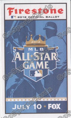 2012 MLB All Star Game Ballot Kansas City Royals SGA