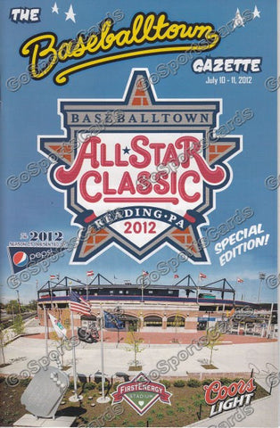 2012 Eastern League All Star Program Gazette (SGA)