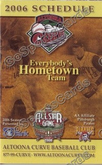 2006 Altoona Curve Pocket Schedule