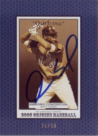 Ambiorix Concepcion 2005 UD Origins Old Judge /50 #203 (Autograph)