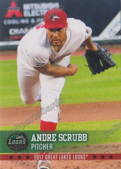2017 Great Lakes Loons Andre Scrubb